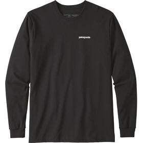 Patagonia P-6 Logo Langærmet T-shirt Herrer, black